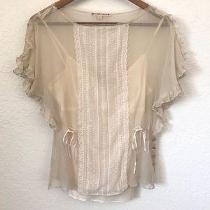 Vintage Nanette Lepore 100% silk/ chiffon blouse 2